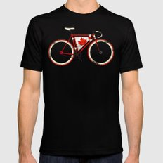 Love Bike, Love Canada Black Mens Fitted Tee LARGE