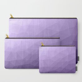 Ultra violet purple geometric mesh Carry-All Pouch