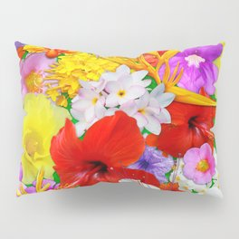 Exotic Flowers Colorful Explosion Pillow Sham