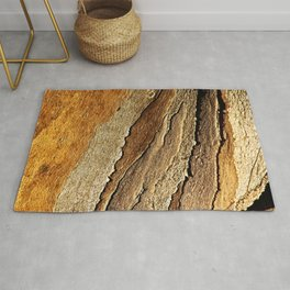 Eucalyptus Tree Bark and Wood Abstract Natural Texture 26 Rug