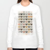hearts Long Sleeve T-shirts featuring Hearts by Texture