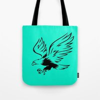 eagle Tote Bags featuring Eagle  by ArtSchool