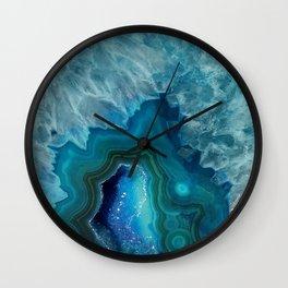 Blue Crystal Wall Clock