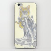 mew iPhone & iPod Skins featuring Mew by Connie Campbell