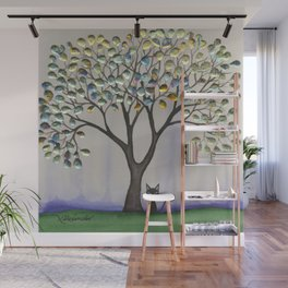 Prescott Whimsical Cat and Tree Wall Mural