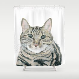The portrait of the cat Shower Curtain