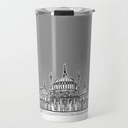 Brighton Royal Pavilion Facade ( Grey version ) Travel Mug
