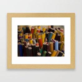 Crayon raynbow Framed Art Print