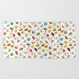 Soups of the World Beach Towel
