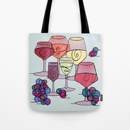 Wine and Grapes Tote Bag