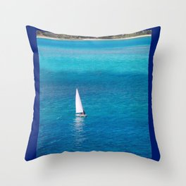 Perfect Blue Sailing Day Throw Pillow