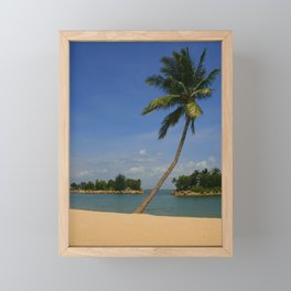 Palm on the Beach Framed Mini Art Print