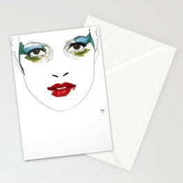 Kate Moss by Mario Testino portrait Stationery Cards