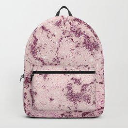 Abstract Luxury Burgundy Blush Glitter Marble Backpack