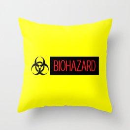 HAZMAT: Biohazard (Red, Black & Yellow) Throw Pillow