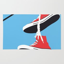 Sneakers on the Wire Rug