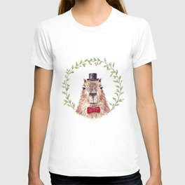 "Watercolor painting ""Sir Capybara"" T-shirt"