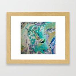 Fluid Nature - Mermaid Seas - Abstract Acrylic Art Framed Art Print