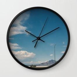 Bonneville Salt Flats Utah USA Wall Clock