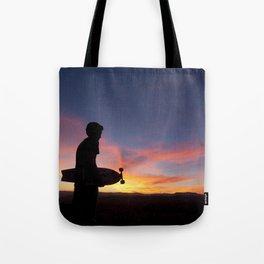 Longboard Silhouette Tote Bag