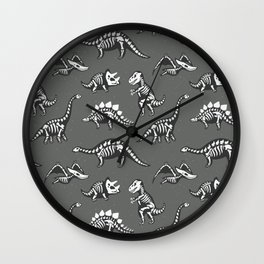 Dinosaur Skeleton Pattern Wall Clock