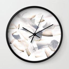 180630 Grey Black Brown Abstract Watercolour 11| Watercolor Brush Strokes Wall Clock