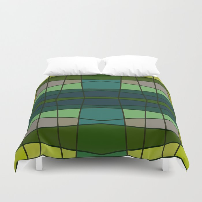 Green Pattern Turtle Duvet Cover