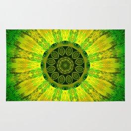 Lemon Lime Mandala Rug