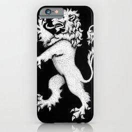 Lion Rampant Hatching iPhone Case