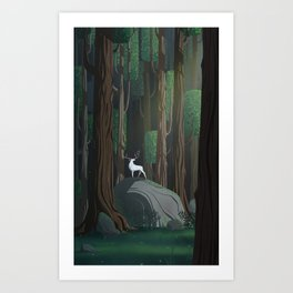Into the woods 1 Art Print