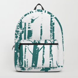 Old Growth Birch Forest in Blue Backpack