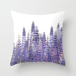 Just Lupine Throw Pillow