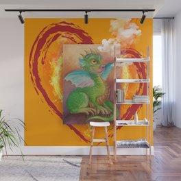 Heart of Baby Dragon Wall Mural