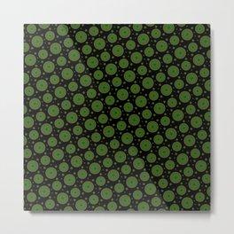Detailed green mandala pattern Metal Print
