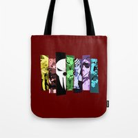 soul eater Tote Bags featuring Soul Eater by feimyconcepts05