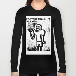 Footsketball Player Long Sleeve T-shirt