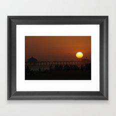 Huntington Beach-Volleyball Net Framed Art Print