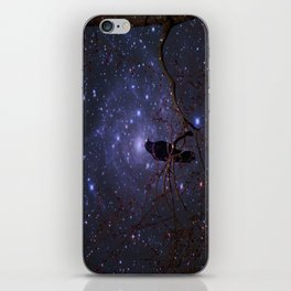 Black crow in moonlight iPhone Skin