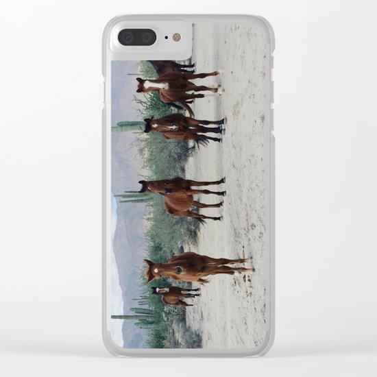 Bahía de los Ángeles Wild Horses Clear iPhone Case
