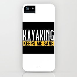 Kayaking Lovers Gift Idea Design Motif iPhone Case