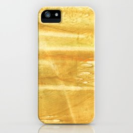 Sandy brown hand-drawn aquarelle iPhone Case