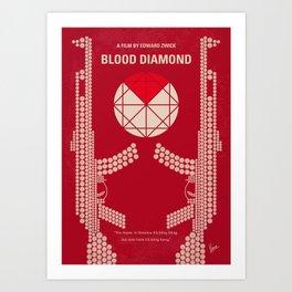 No833 My Blood Diamond minimal movie poster Art Print