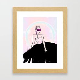 PINK BLUSH BRAID Framed Art Print
