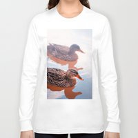 duck Long Sleeve T-shirts featuring Duck by DistinctyDesign