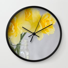 Spring Bouquet Wall Clock
