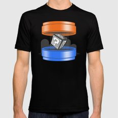 Thinking With Plungers 2X-LARGE Mens Fitted Tee Black