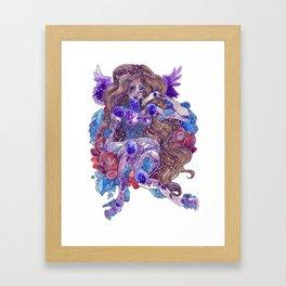 Galaxy crystal Amynight Framed Art Print