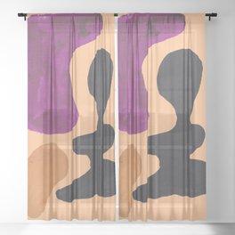29   190330 Abstract Shapes Painting Sheer Curtain