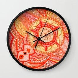 Energy of Orange-Sacral Chakra Wall Clock