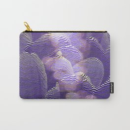 Striped crocus petals with bokeh effect Carry-All Pouch